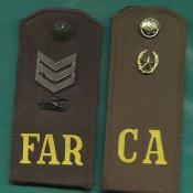 Погоны FAR и СА. Танковый батальон.