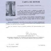 1964-06-08. Грамота, 1 половина на испанском языке