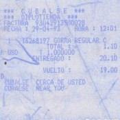 Чек на покупку в диплотьенде. 29 апреля 1993 года.