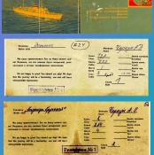 Посадочные талоны: «Эстония» на Кубу, декабрь 1970, «Надежда Крупская» - в Союз, апрель 1972