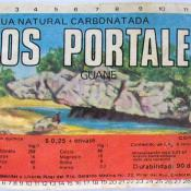 Этикетка с бутылки минеральной воды «Agua carbonatada», бутылка - обычная пол-литровая «чебурашка». После школы она выпивалась.