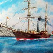 Пароход Колумб. Построен в Гаване в 1851 году