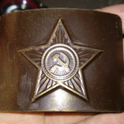1987-1989. Бляха от армейского ремня.