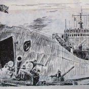 Калька 12. Десантный корабль