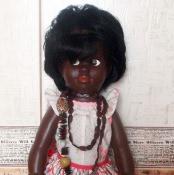 Кукла-негритянка. Изготовлена на Кубе.