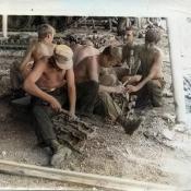 1975. Парк танкового батальона.