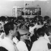Праздничный митинг в Гаване. Приезд Л.И. Брежнева в 1974 году.