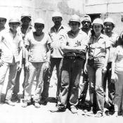 1984-1987. Инна с группой кубинских строителей на объекте.