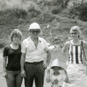 1983-1985. Стас Гужва с семьей - жена Татьяна, дочь Оксана и сын.