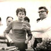 1963, октябрь. Валентина Терешкова и посол СССР на Кубе А.И. Алексеев в Торренсе.