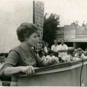 В.В. Терешкова, на встрече у советских специалистов, 10 октября 1963