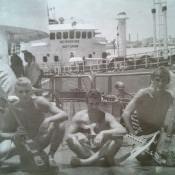 038. День ВМФ, СС «Алдан», 1983 год