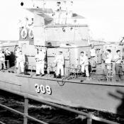 1969-07-20. Мексиканский залив. Встреча с кубинским кораблём для приёмки лоцмана.