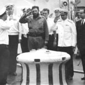 1969-07-20. Фидель Кастро, прибытие на крейсер «Грозный»