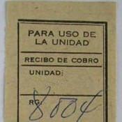 Заполненный отрывной край-талон от отправленной телеграммы