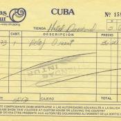 1988-06-05. Чек на покупку часов в магазине системы Кубальсе (Cubalse = Куба аль Servicio де Extranjeros, т.е., Куба для услуг иностранных граждан).
