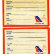 1984-1987. Багажные наклейки-стикеры в аэропорту Гаваны.