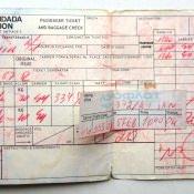 1986. Авиабилеты на рейс «Москва-Гавана». Оборот.