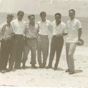 Ярлыков Виктор Николаевич с советскими и кубинскими коллегами. Республика Куба, г. Гавана. 1961-1962 гг.