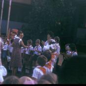 Прием в пионеры во дворе школы в Колорадо. Весна 1987.