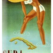 50-е годы. Плакат «Куба - идеальное место для отдыха»