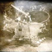 1976. Фото лунохода на советской выставке в Гаване.