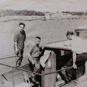 1962-1965. В.А. Кузьмин и его сослуживцы на катере
