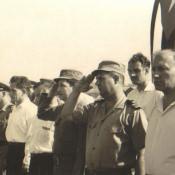 1962-1965. Смотр. Первый справа - В.А. Кузьмин, третий справа - Рауль Кастро