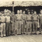 1962-1965. Совместный снимок с кубинскими морскими офицерами.