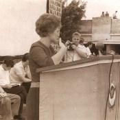 1963, 8 октября. Выступление Валентины Терешковой в Торренсе. Фото 2