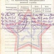 Военный билет Брыгалина Николая Егоровича, прохождение действительной военной службы