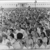 1963 год. На выступлении Валентины Терешковой