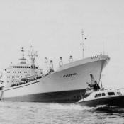 Январь 1964. Теплоход «Красноуфимск».