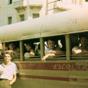 1986 год, школьный автобус