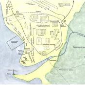 Карта–схема базы «Гранма».