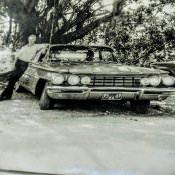 1971-1973. В. Мальцев возле иномарки.
