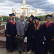 С моими студентами по МГУ им Ломоносова.