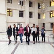 С моими студентами Международного университета в Москве.