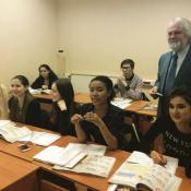С будущими лингвистами. Международный Университет в Москве.