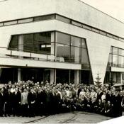 Встреча бывших комсомольцев, работавших в Республике Куба, спустя 10 лет. СССР, г. Москва. 1971 г.