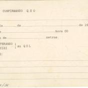 Бланк для записи на прием зубного врача Хуана Лапласе с рекламным текстом. Оборотная сторона для заполнения. Куба.  1961 (?) г.