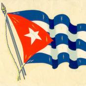 Наклейка. Флаг Республики Куба. 1961 г.