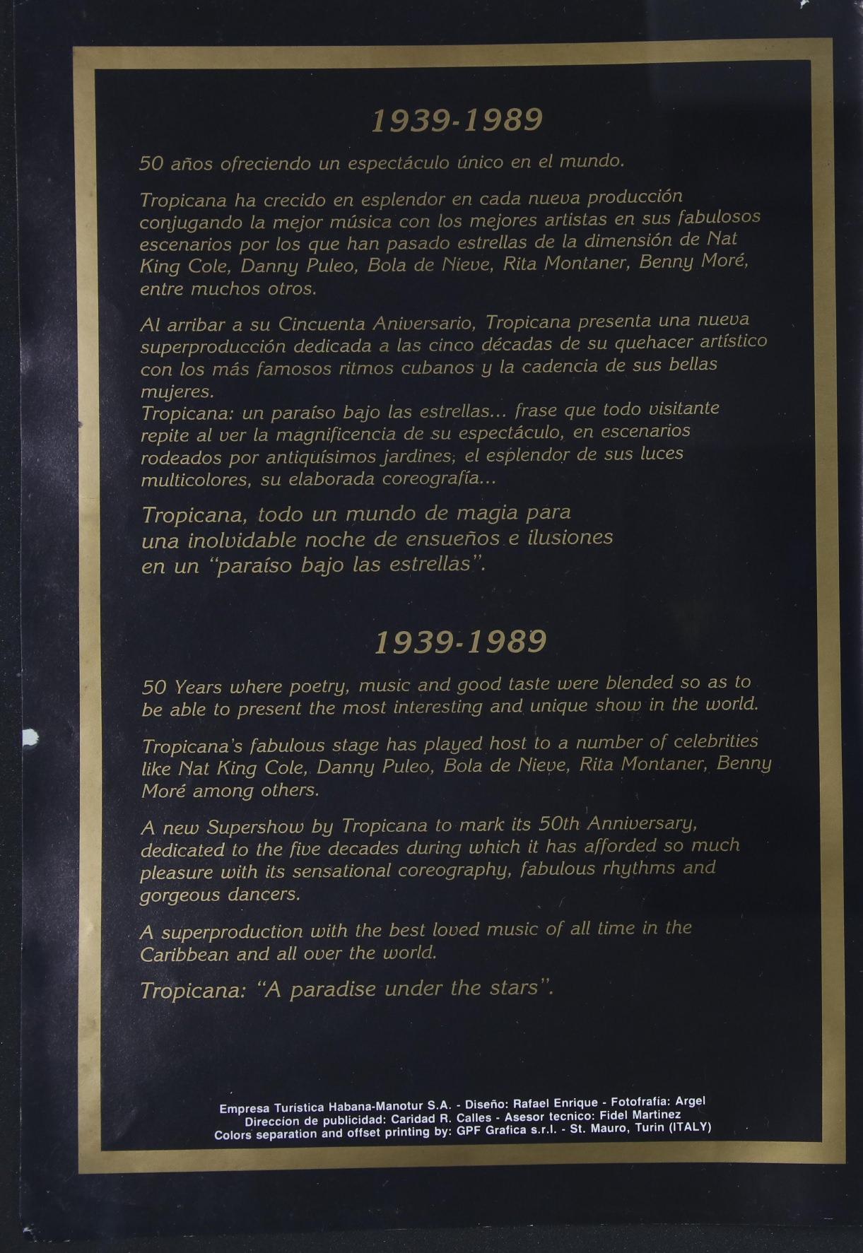 """Набор открыток """"50 лет кабаре """"Тропикана"""", 1989"""