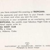 Буклет «Кабаре Тропикана», последний лист