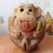 Обезьянка из кокоса. Ракурс 1.