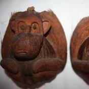 Обезьянки из кокосовых орехов. Вид 1