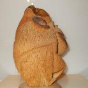 Обезьяна из кокоса. Профиль.