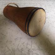 107. 1965-1970. Барабан бата из дерева и воловьей кожи, фото 4