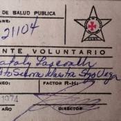 1974-04-16. Документ о сдаче крови.