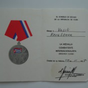 1987-11-07. Медаль воина-интернационалиста второй степени.  Титул.